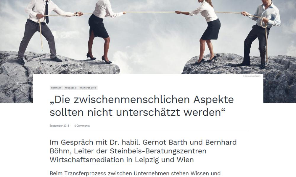 Gernot Barth und Bernhard Böhm im Interview
